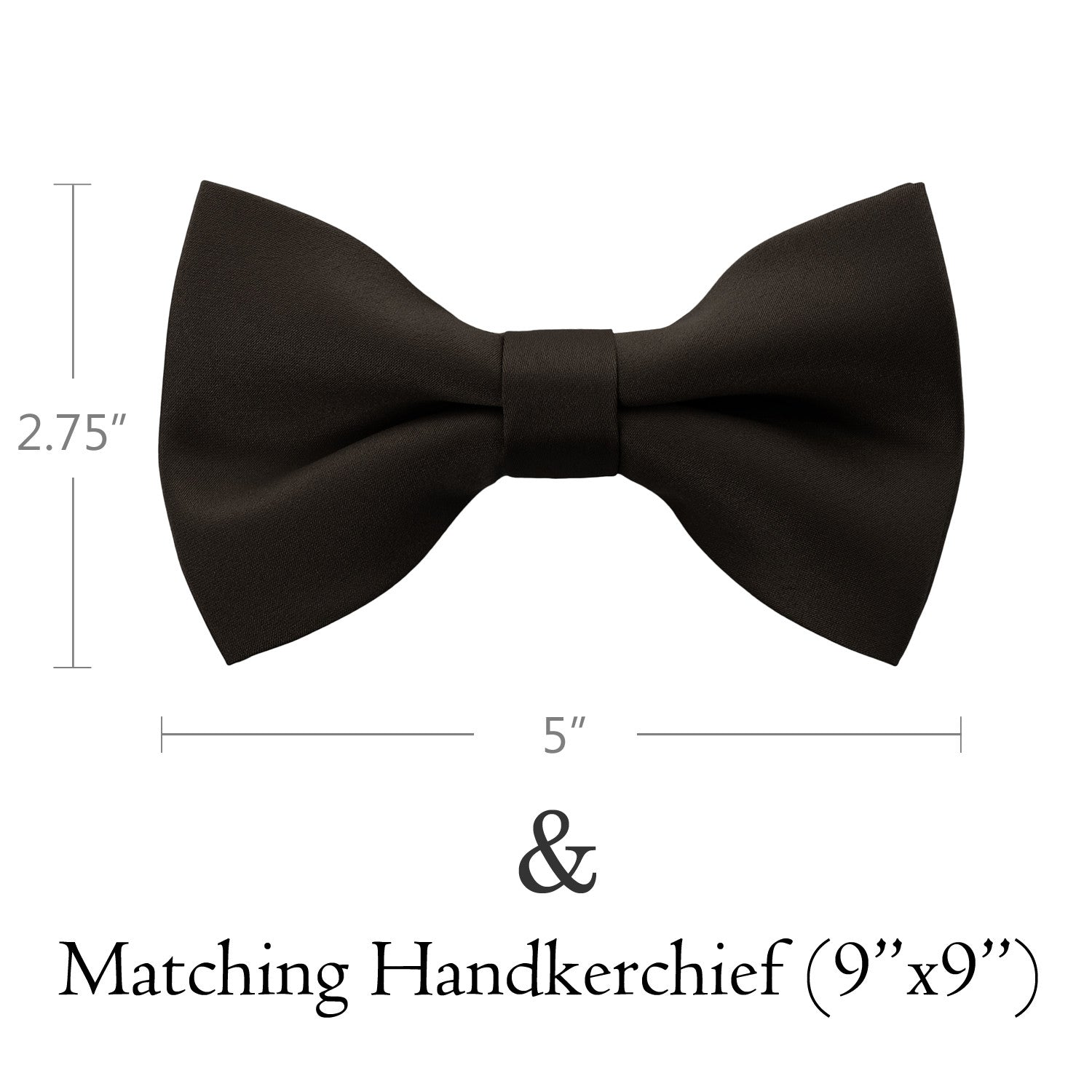CHOCOLATE Bow Tie and Handkerchief Set- MONDAYSUIT