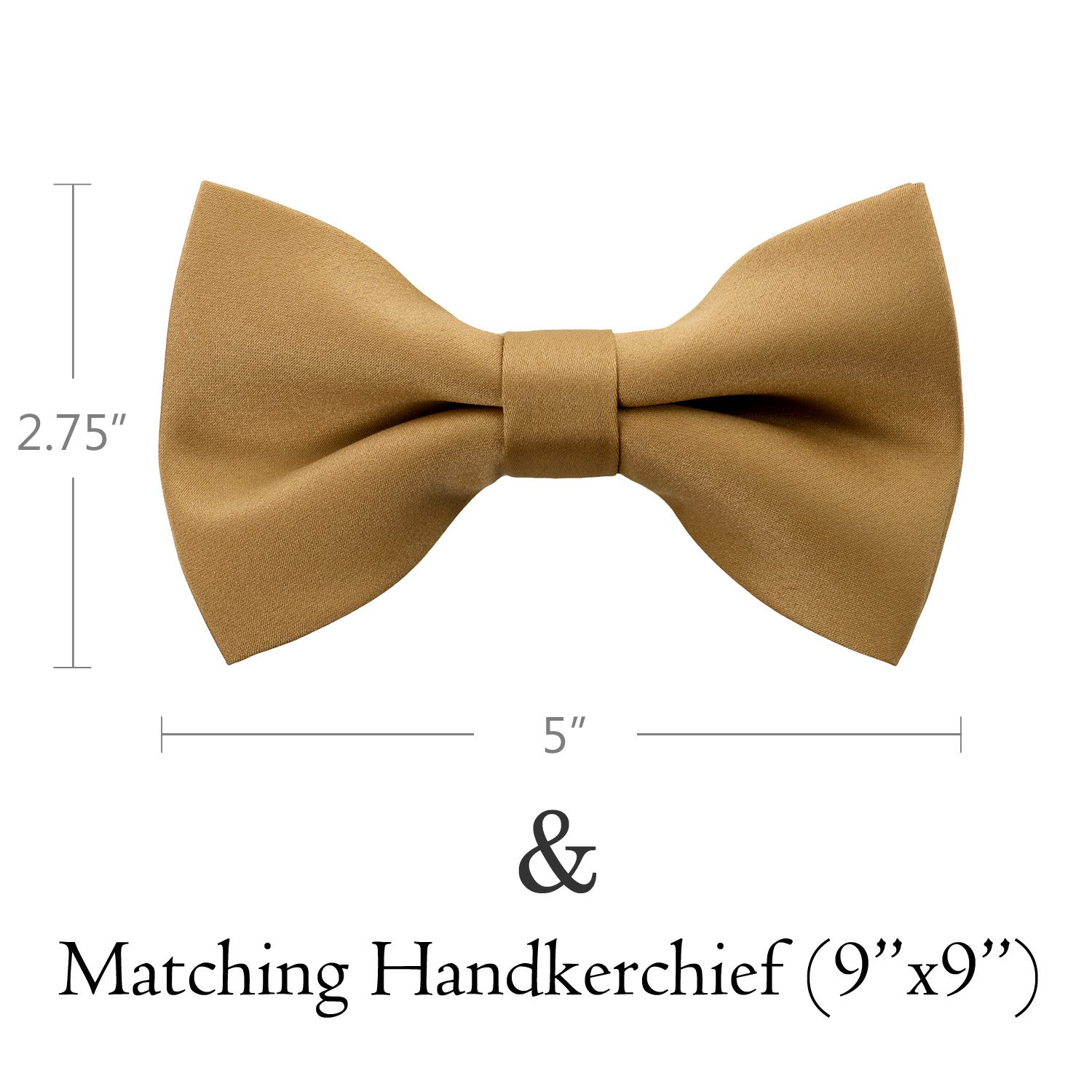 GOLD Bow Tie and Handkerchief Set- MONDAYSUIT