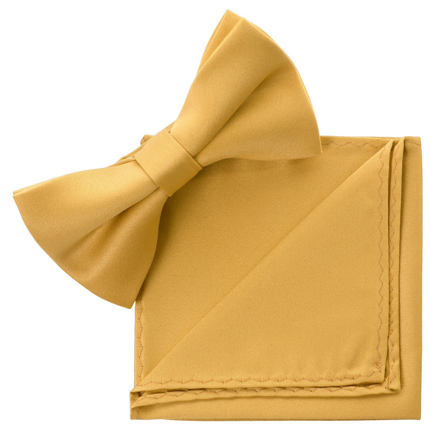 YELLOW Bow Tie and Handkerchief Set- MONDAYSUIT