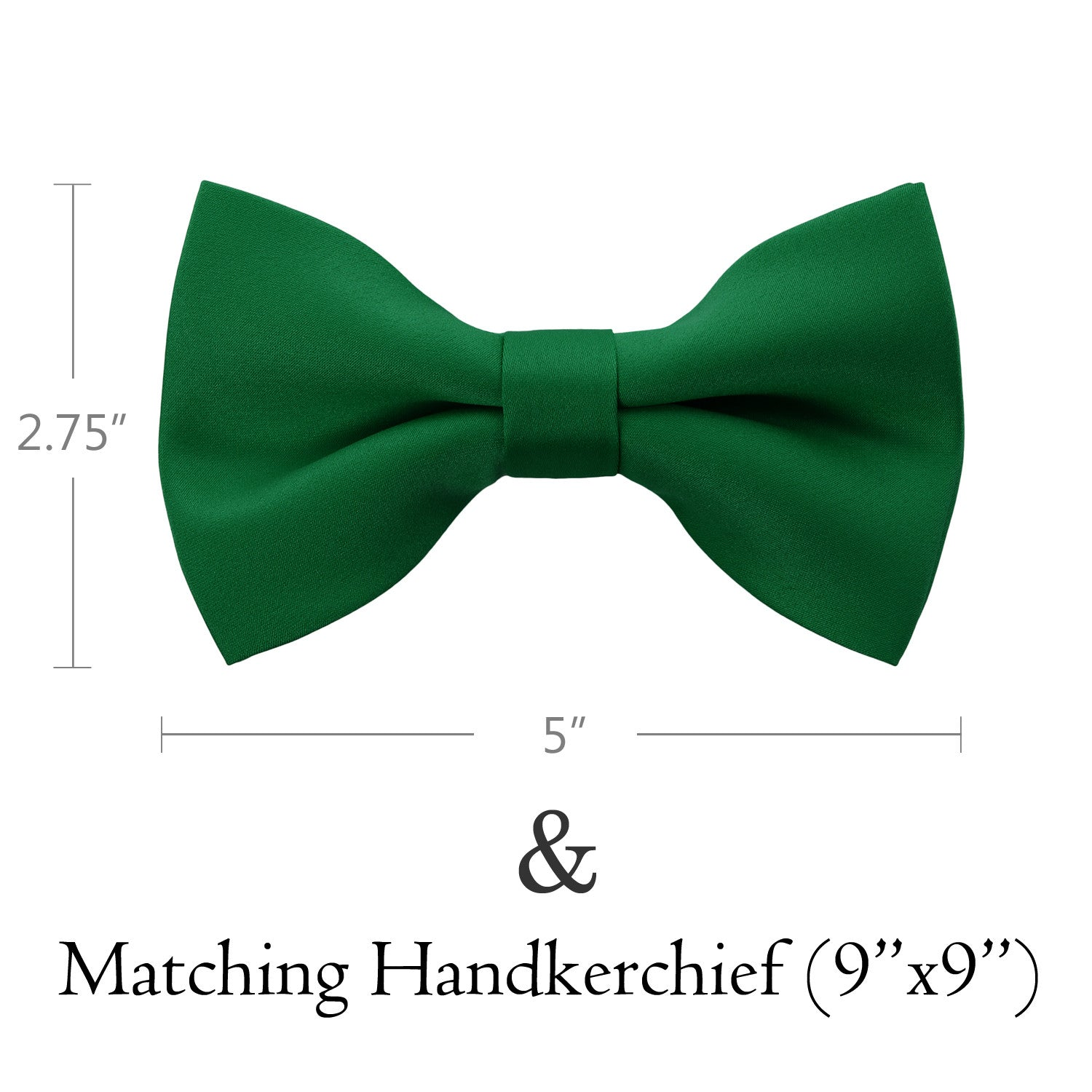 GREEN Bow Tie and Handkerchief Set- MONDAYSUIT
