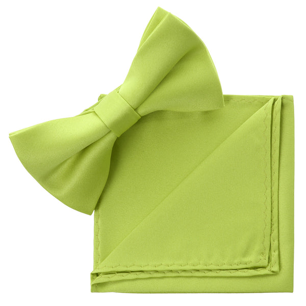 LIME Bow Tie and Handkerchief Set- MONDAYSUIT