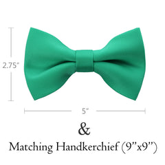 EMERALD Bow Tie and Handkerchief Set- MONDAYSUIT