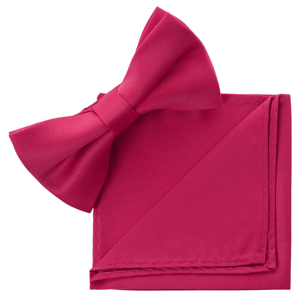 HOTPINK Bow Tie and Handkerchief Set- MONDAYSUIT