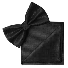 BLACK Butterfly Bow Tie and Handkerchief Set- MONDAYSUIT