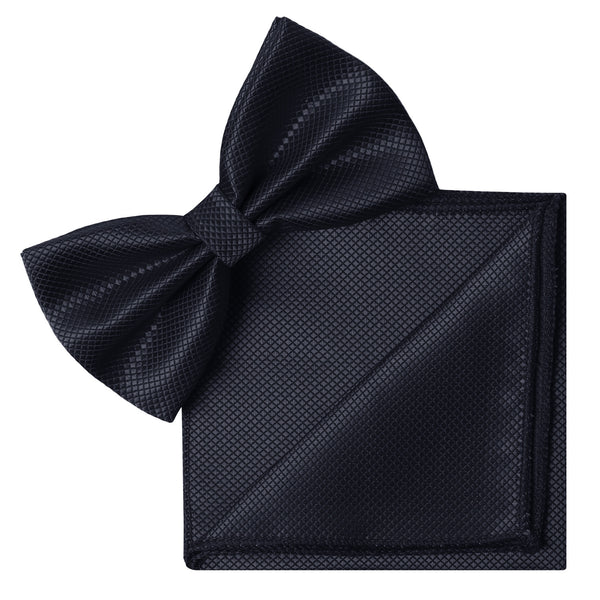 BLUE Butterfly Bow Tie and Handkerchief Set- MONDAYSUIT