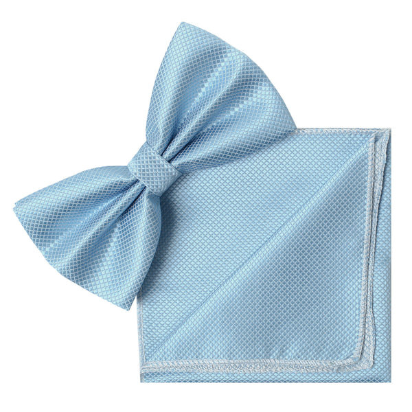 BABY BLUE Butterfly Bow Tie and Handkerchief Set- MONDAYSUIT