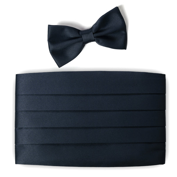 BLUE Tuxedo Bow Tie and Cummerbund Set- MONDAYSUIT