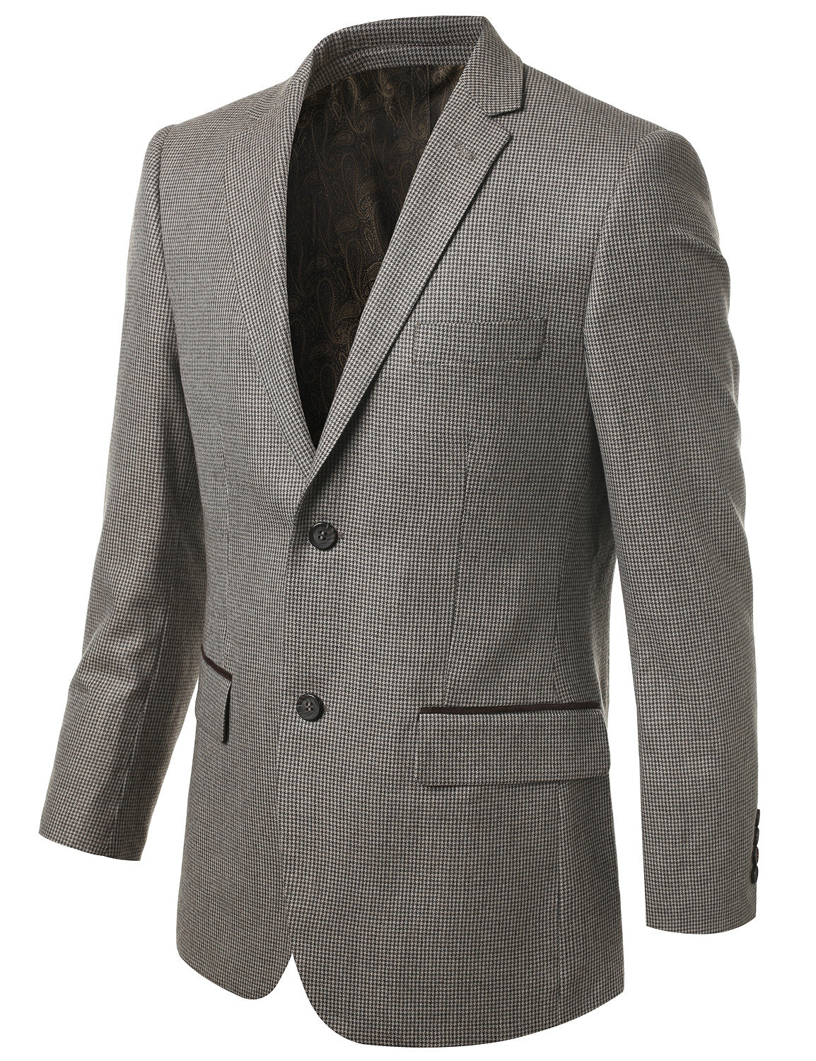 07OLIVE Modern Fit 2-Button Wool Blazer (Big & Tall Available)