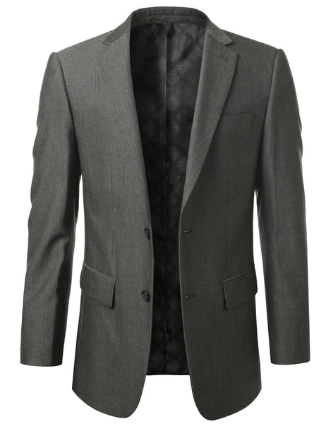 14BEIGE Modern Fit 2-Button Wool Blazer (Big & Tall Available)