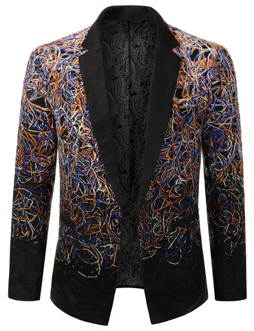 Mens Two Tone Gradient Extra Slim Fit Blazer Jacket