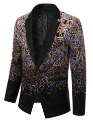 MULTI Mens Two Tone Gradient Extra Slim Fit Blazer Jacket - MONDAYSUIT