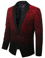 RED Mens Two Tone Gradient Extra Slim Fit Blazer Jacket - MONDAYSUIT