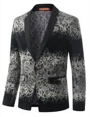 GRAYSCALE Mens Multi Tone Gradient Extra Slim Fit Blazer Jacket