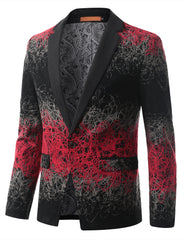 REDGRAY Mens Multi Tone Gradient Extra Slim Fit Blazer Jacket