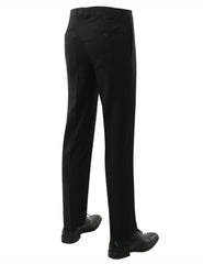 01BLACK Modern Fit Plain Dress Trousers- MONDAYSUIT