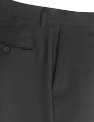 03GRAY Modern Fit Plain Dress Trousers- MONDAYSUIT