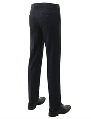 02NAVY Modern Fit Plain Dress Trousers- MONDAYSUIT