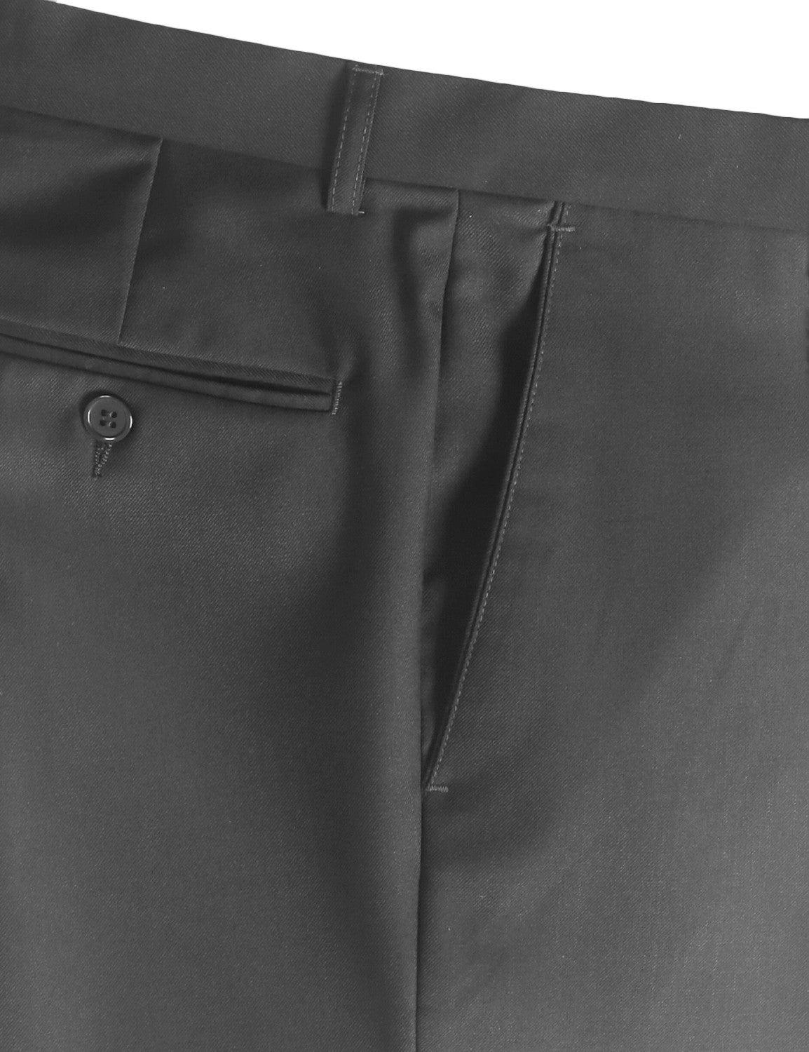 03GRY Modern Fit Flat Front Dress Trousers- MONDAYSUIT
