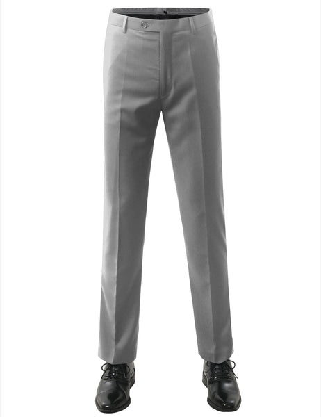 60PUTTY Modern Fit Flat Front Dress Trousers- MONDAYSUIT