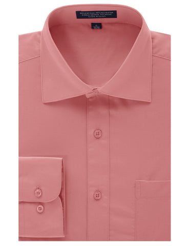Blush Regular Fit Dress Shirt w/ Reversible Cuff (Big & Tall Available)