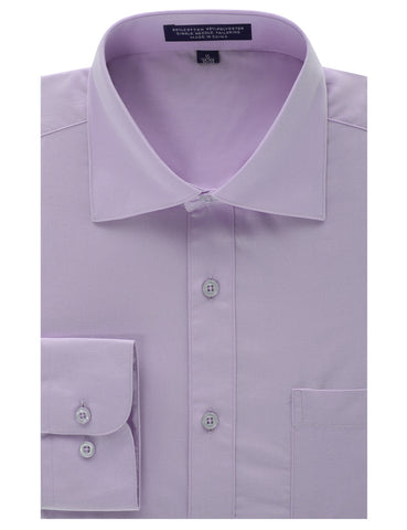 Lavender Regular Fit Dress Shirt w/ Reversible Cuff (Big & Tall Available)
