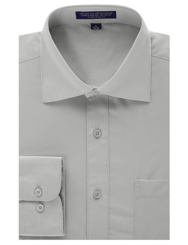 Light Gray Regular Fit Dress Shirt w/ Reversible Cuff (Big & Tall Available)