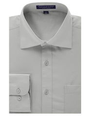 LIGHTGRAY Regular Fit Dress Shirt w/ Reversible Cuff (Big & Tall Available)- MONDAYSUIT