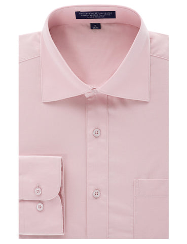 Pink Regular Fit Dress Shirt w/ Reversible Cuff (Big & Tall Available)