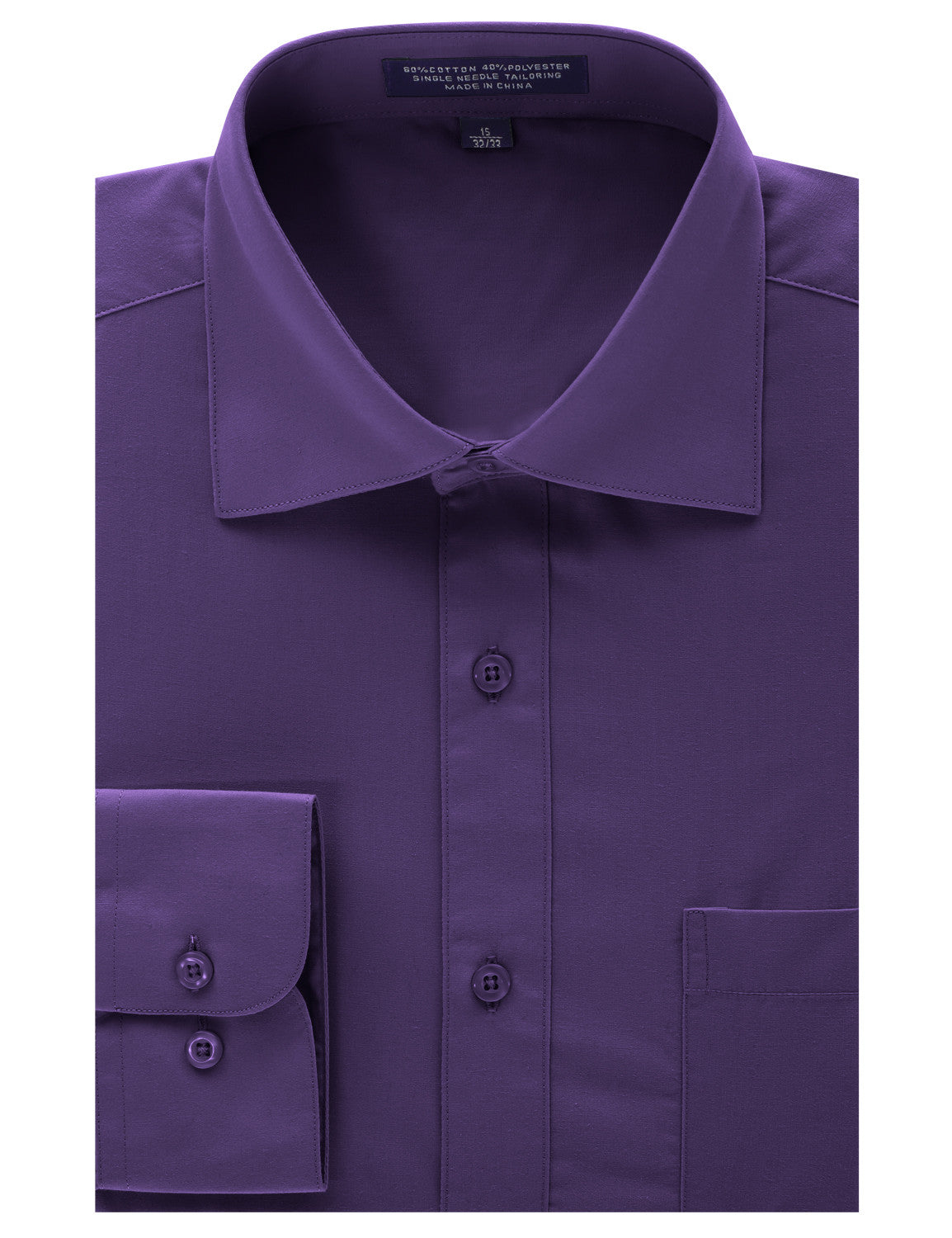 PURPLE Regular Fit Dress Shirt w/ Reversible Cuff (Big & Tall Available)- MONDAYSUIT