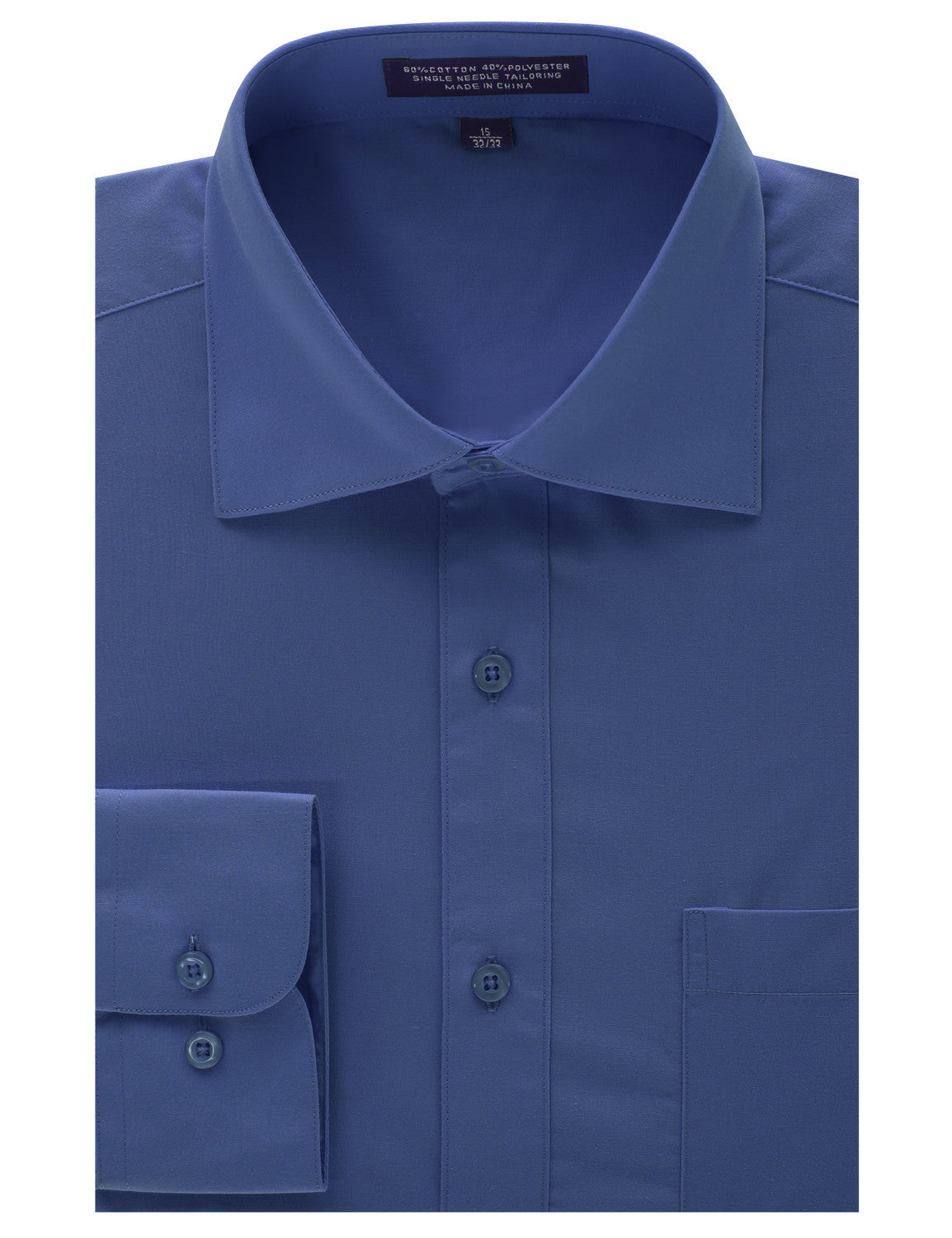 ROYALBLUE Regular Fit Dress Shirt w/ Reversible Cuff (Big & Tall Available)- MONDAYSUIT