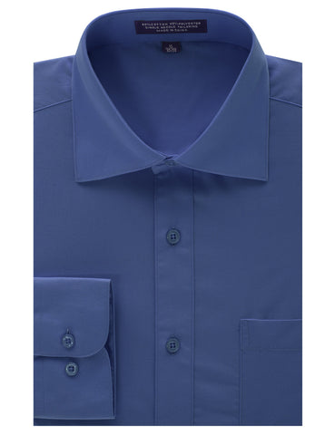 Royal Blue Regular Fit Dress Shirt w/ Reversible Cuff (Big & Tall Available)