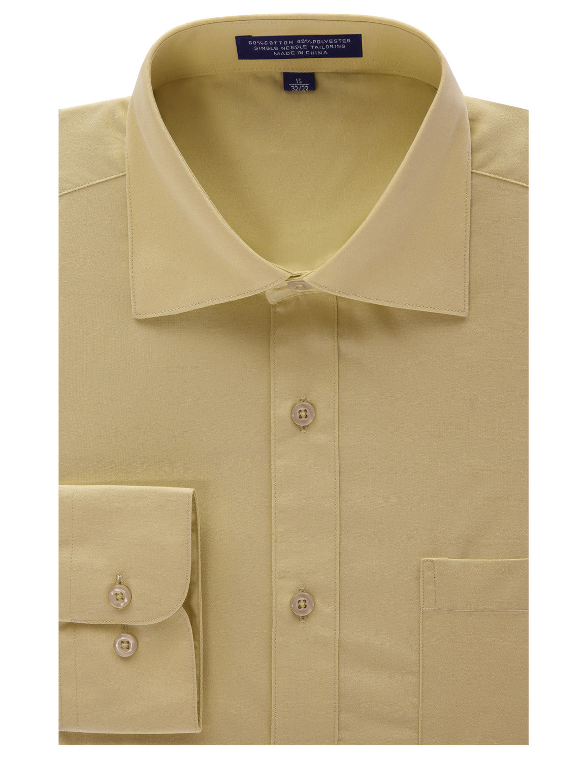 TAN Regular Fit Dress Shirt w/ Reversible Cuff (Big & Tall Available)- MONDAYSUIT