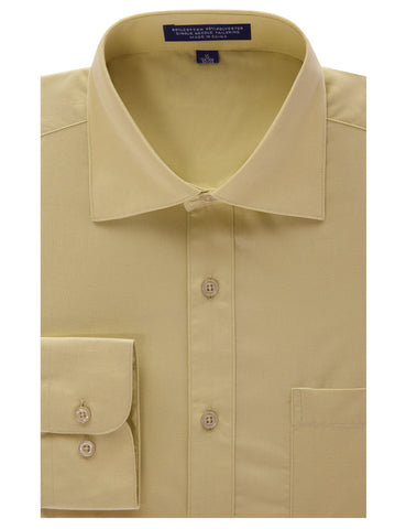 Tan Regular Fit Dress Shirt w/ Reversible Cuff (Big & Tall Available)