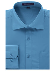 TURQUOISE Regular Fit Dress Shirt w/ Reversible Cuff (Big & Tall Available)- MONDAYSUIT