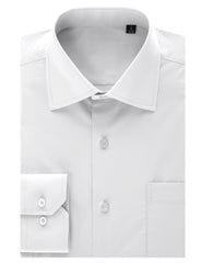 TC01WHITE White Regular Fit Dress Shirt w/ Reversible Cuff (Big & Tall Available)- MONDAYSUIT