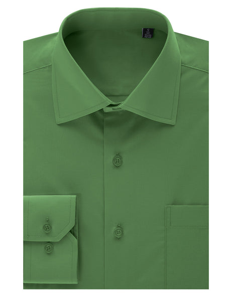 TC05OLIVE Olive Regular Fit Dress Shirt w/ Reversible Cuff (Big & Tall Available)- MONDAYSUIT