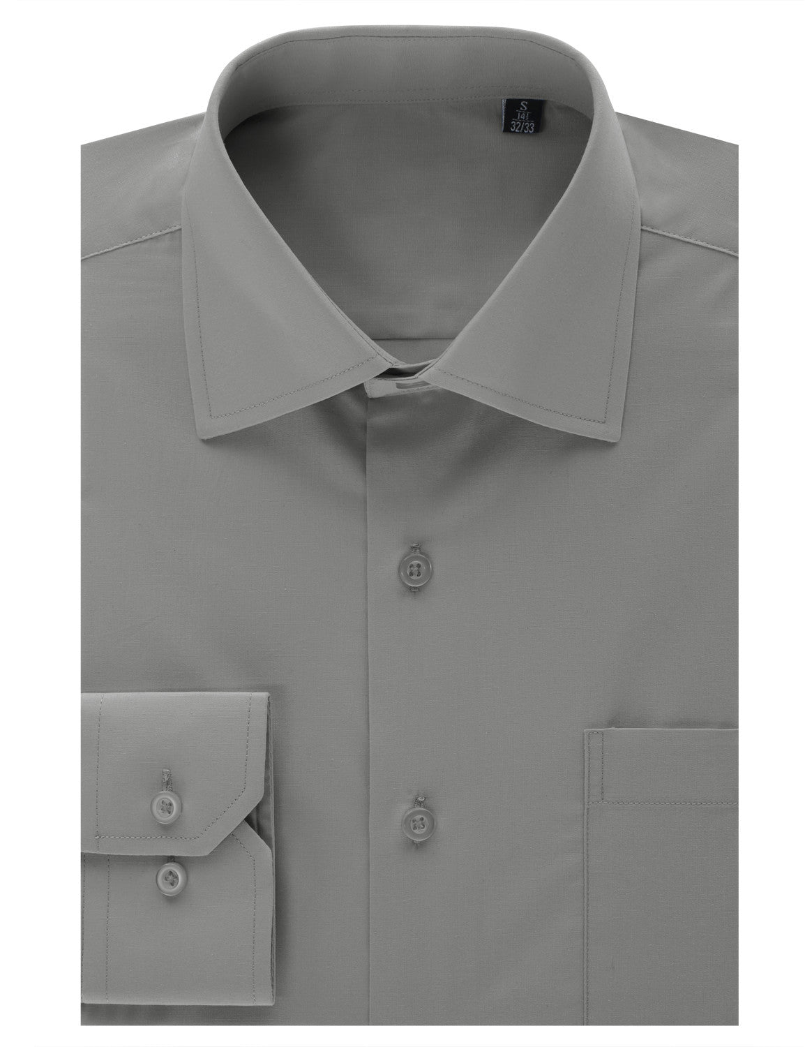 TC29LIGHTGRAY Light Gray Regular Fit Dress Shirt w/ Reversible Cuff (Big & Tall Available)- MONDAYSUIT