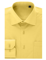 TC603LEMON Lemon Regular Fit Dress Shirt w/ Reversible Cuff (Big & Tall Available)- MONDAYSUIT