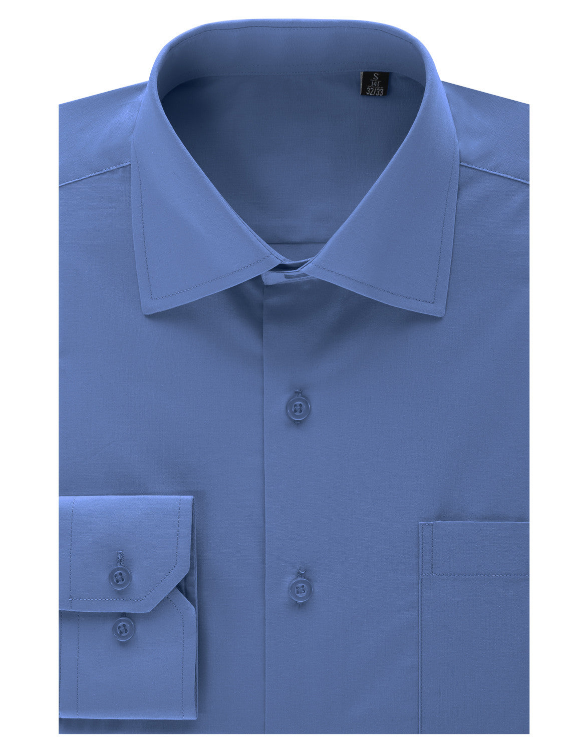 TC607AQUA Aqua Regular Fit Dress Shirt w/ Reversible Cuff (Big & Tall Available)- MONDAYSUIT
