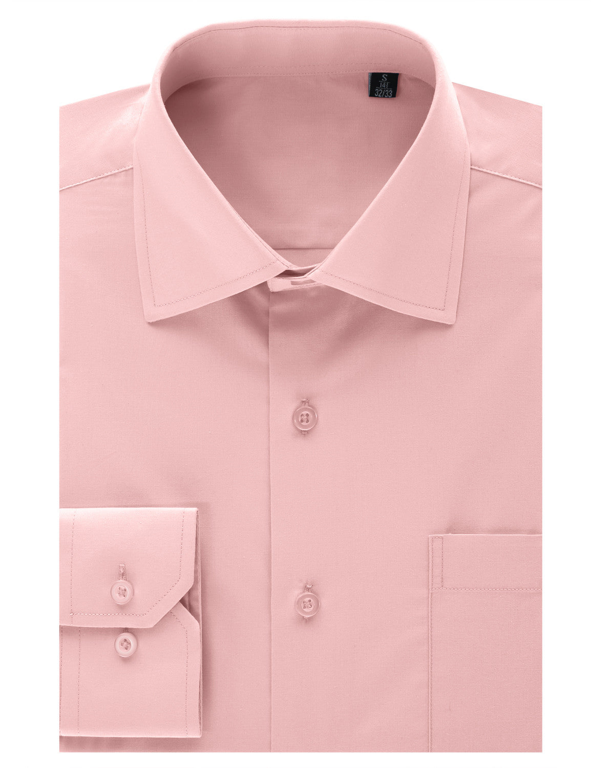 TC625PINK Pink Regular Fit Dress Shirt w/ Reversible Cuff (Big & Tall Available)- MONDAYSUIT