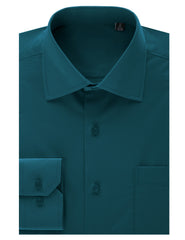 TC630TEAL Teal Regular Fit Dress Shirt w/ Reversible Cuff (Big & Tall Available)- MONDAYSUIT