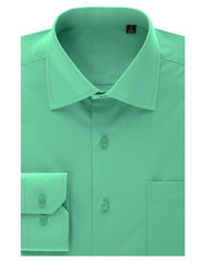 TC633MINT Mint Regular Fit Dress Shirt w/ Reversible Cuff (Big & Tall Available)- MONDAYSUIT