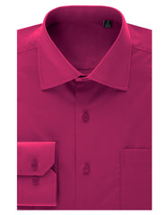 TC636FUCHSIA Fuchsia Regular Fit Dress Shirt w/ Reversible Cuff (Big & Tall Available)- MONDAYSUIT