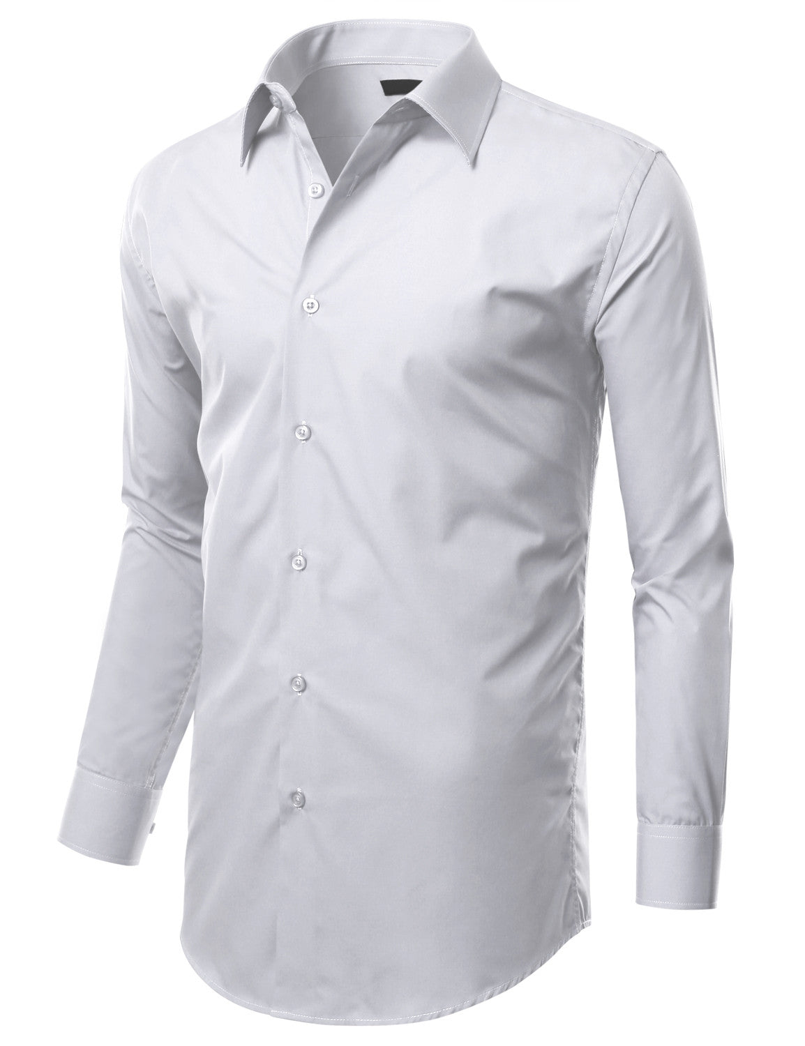 TC01WHITE White Slim Fit Dress Shirt w/ Reversible Cuff (Big & Tall Available)- MONDAYSUIT