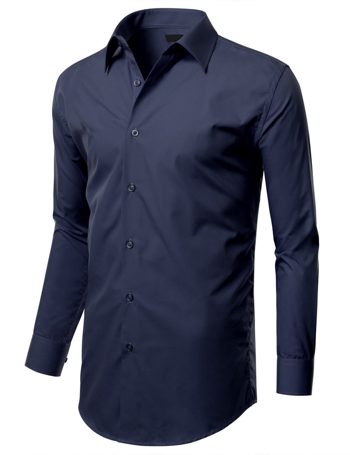 TC09NAVY Navy Slim Fit Dress Shirt w/ Reversible Cuff (Big & Tall Available)- MONDAYSUIT