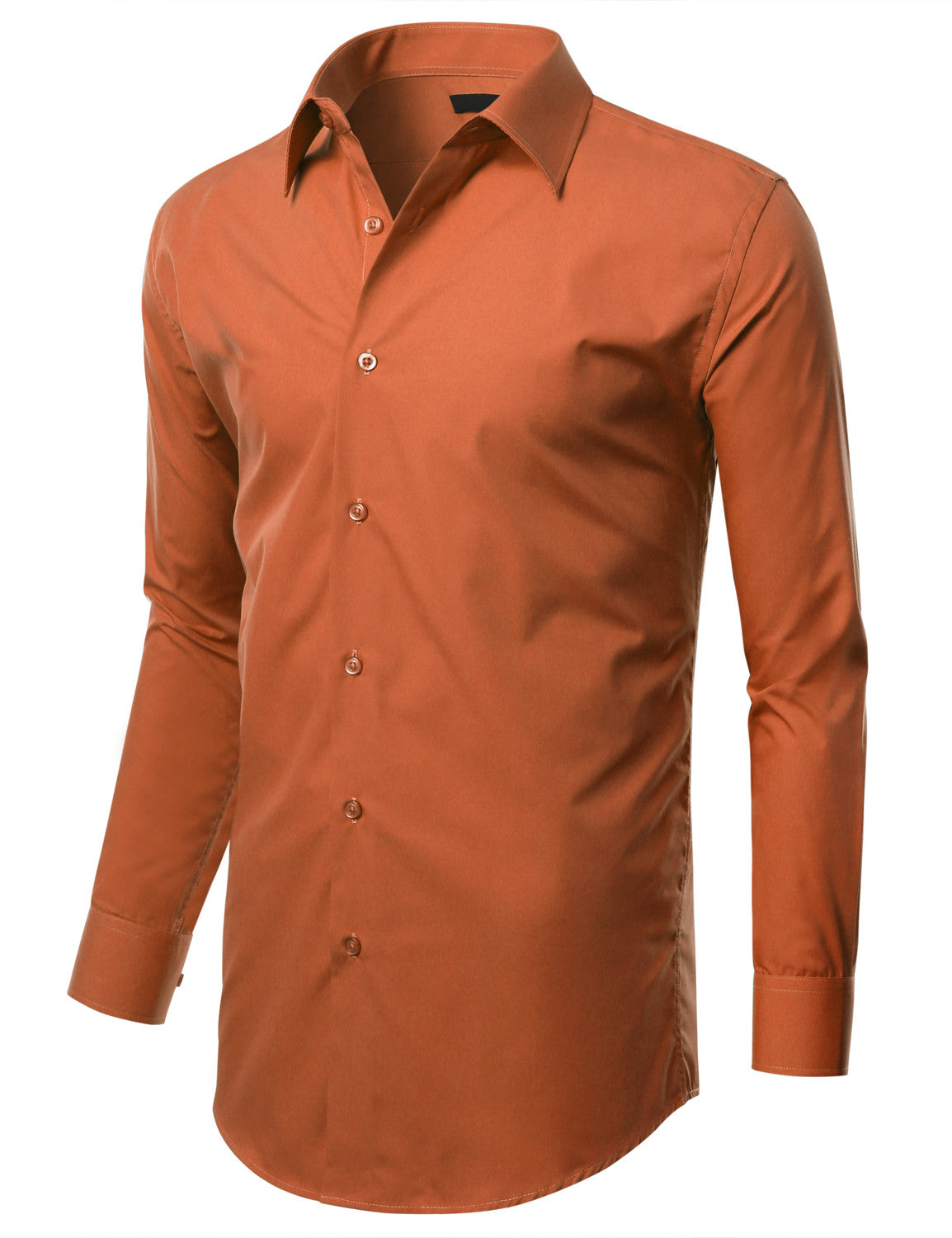 TC12ORANGE Orange Slim Fit Dress Shirt w/ Reversible Cuff (Big & Tall Available)- MONDAYSUIT
