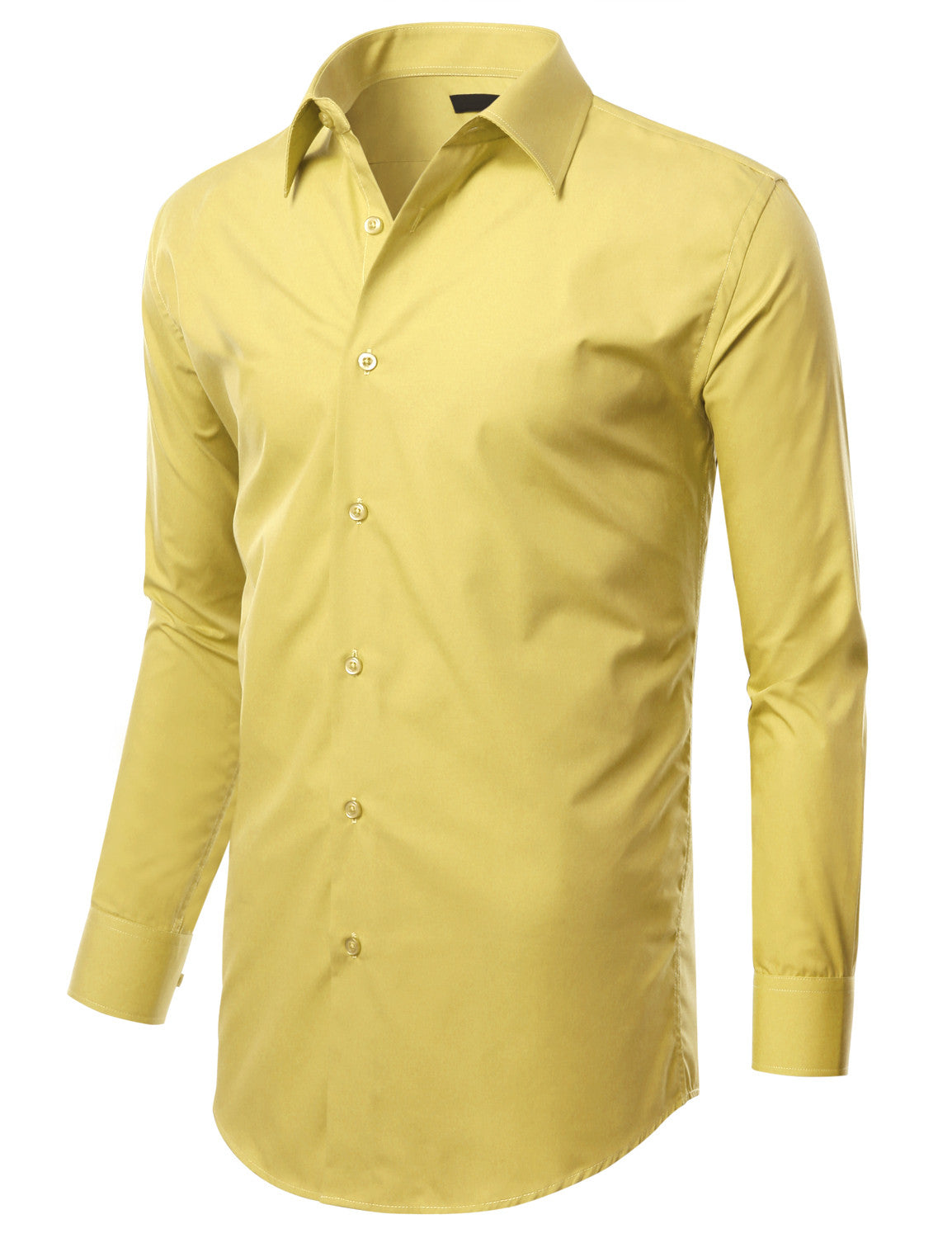 ed92d45bcfe1b TC603LEMON Lemon Slim Fit Dress Shirt w  Reversible Cuff (Big   Tall  Available)
