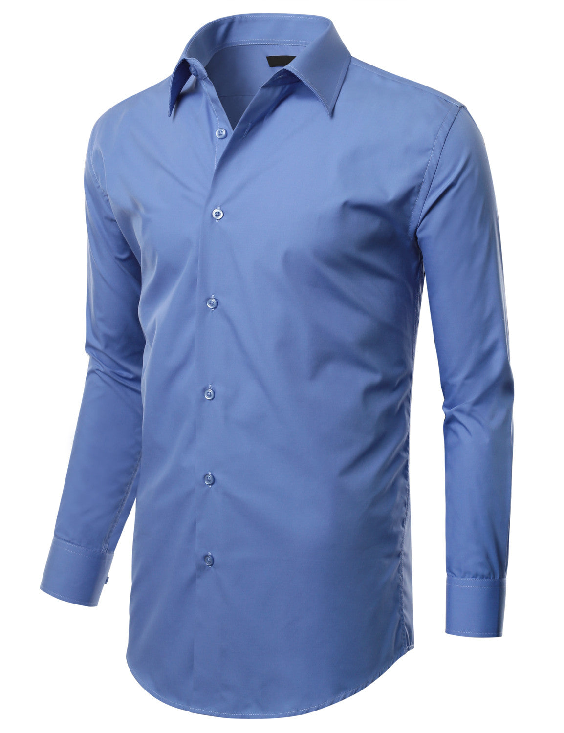 TC607AQUA Aqua Slim Fit Dress Shirt w/ Reversible Cuff (Big & Tall Available)- MONDAYSUIT