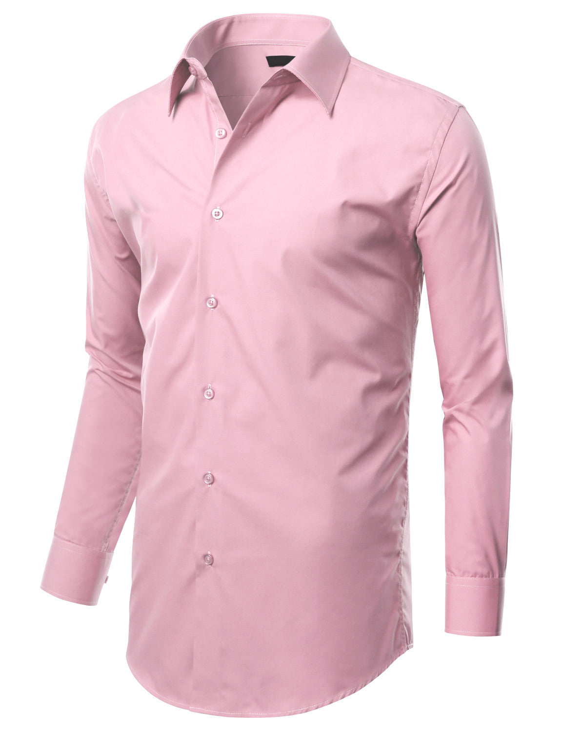 TC625PINK Pink Slim Fit Dress Shirt w/ Reversible Cuff (Big & Tall Available)- MONDAYSUIT