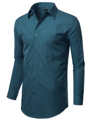 TC630TEAL Teal Slim Fit Dress Shirt w/ Reversible Cuff (Big & Tall Available)- MONDAYSUIT